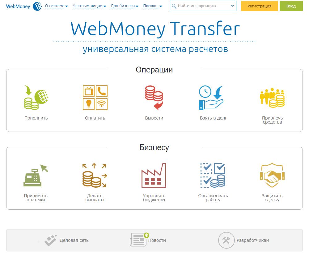 Личный кабинет Webmoney