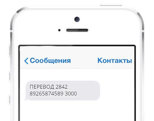 Перевод на карту Сбербанка при помощи мобильного телефона через SMS